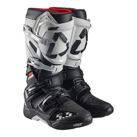 LEATT 2020 GPX 5.5 FLEXLOCK BOOT - WHITE/BLACK