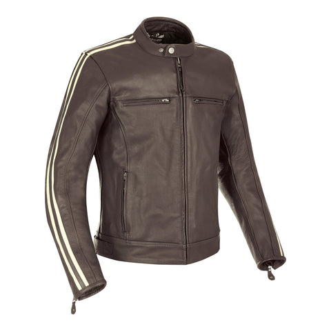 OXFORD BLADON LEATHER JACKET - BROWN
