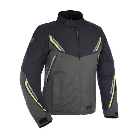 OXFORD HINTERLAND MENS TRILAMINATE JACKET - GREY/FLURO