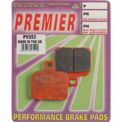 PREMIER BRAKE PADS SEMI SINTERED STREET