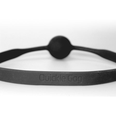 Quickie Ball Gag - Medium Black