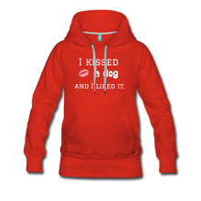 Load image into Gallery viewer, I Kissed a Dog - Women's Premium Hoodie - Fur Baby Whims