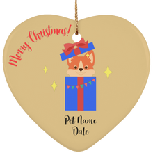 Load image into Gallery viewer, Puppy Surprise Personalized Christmas Ornament