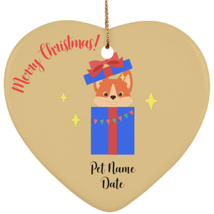 Puppy Surprise Personalized Christmas Ornament