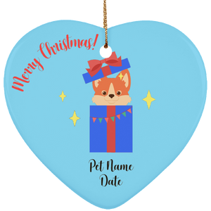 Puppy Surprise Personalized Christmas Ornament - Fur Baby Whims