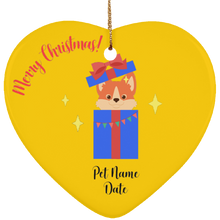Load image into Gallery viewer, Puppy Surprise Personalized Christmas Ornament - Fur Baby Whims