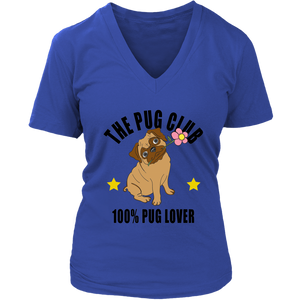 Pug Club 100% Pug Lover - T-Shirt - Fur Baby Whims