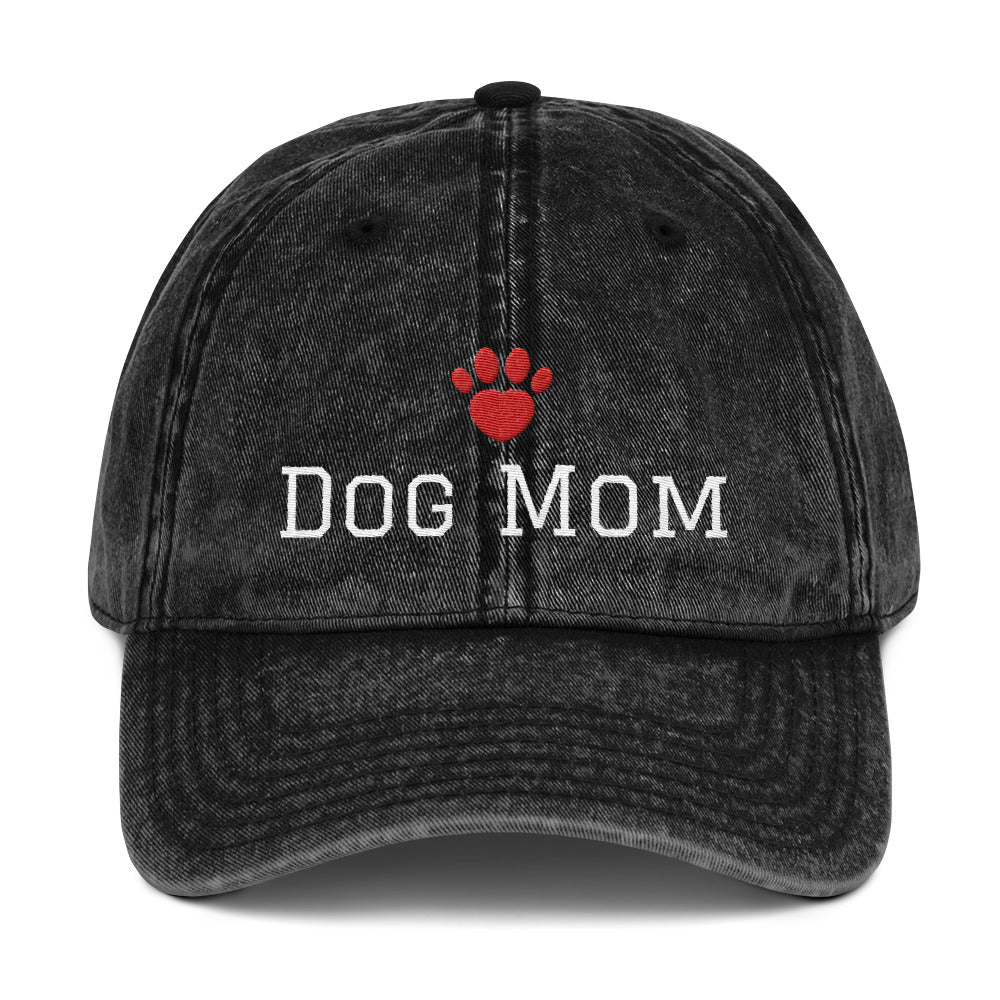 Dog Mom Vintage Cotton Twill Cap - Fur Baby Whims