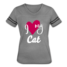 Load image into Gallery viewer, I Love My Cat Women's Vintage Sport T-Shirt - Fur Baby Whims