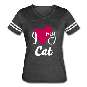 I Love My Cat Women's Vintage Sport T-Shirt - Fur Baby Whims