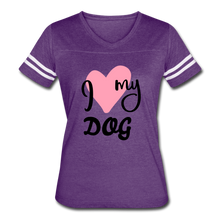 Load image into Gallery viewer, I Love My Dog Women's Vintage Sport T-Shirt - Fur Baby Whims
