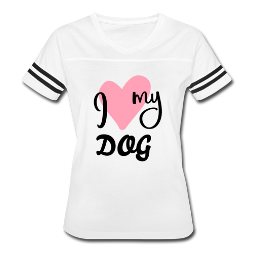 I Love My Dog Women's Vintage Sport T-Shirt - Fur Baby Whims