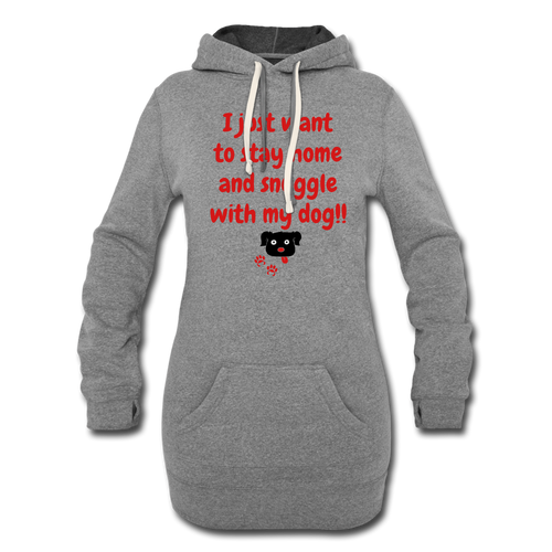 Snuggle With My Dog - Women's Lounging Hoodie (Light) - Fur Baby Whims