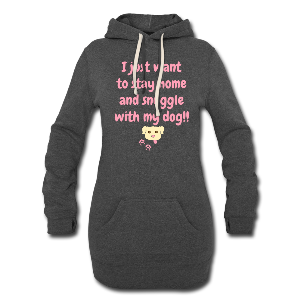 Snuggle With My Dog - Women's Lounging Hoodie (Dark) - Fur Baby Whims