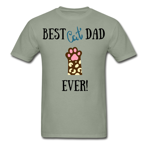 Best Cat Dad Ever - Hanes Adult Tagless T-Shirt - Fur Baby Whims