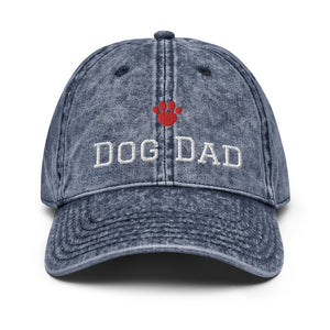 Dog Dad Vintage Cotton Twill Cap - Fur Baby Whims
