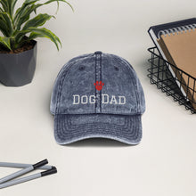 Load image into Gallery viewer, Dog Dad Vintage Cotton Twill Cap - Fur Baby Whims