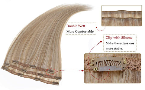 Clip On Real Hair Extensions