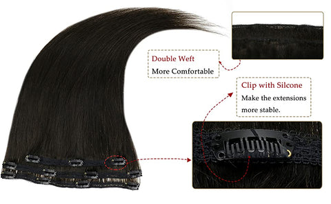 3 Pieces 50g Seamless Clip In