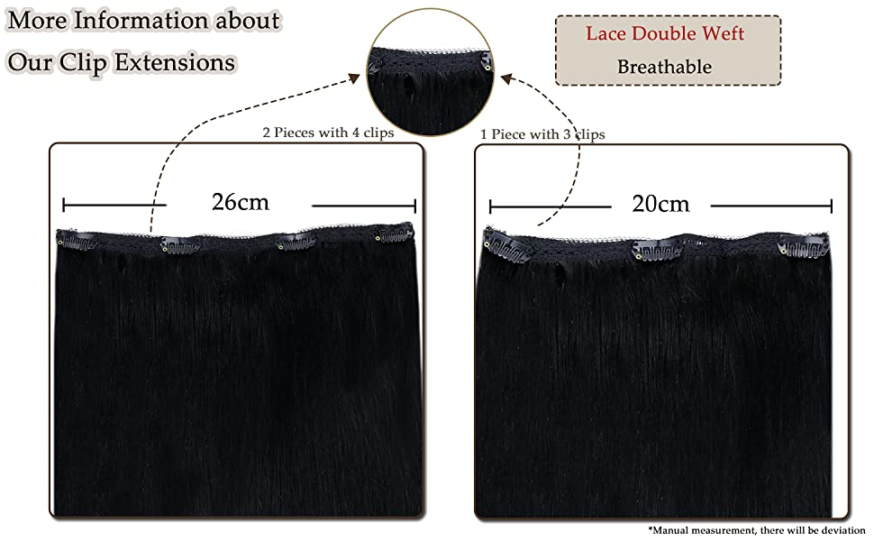 Length Of Lace Double Weft