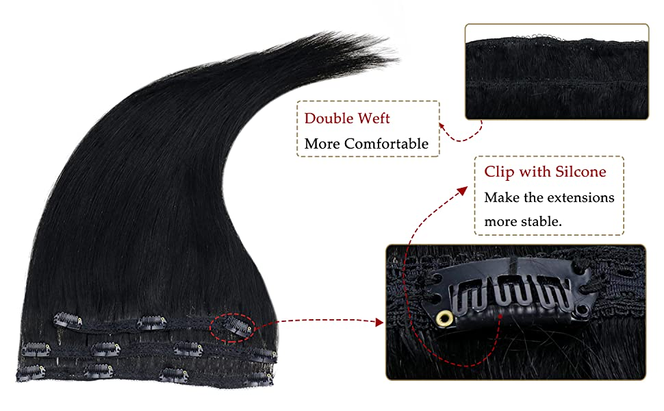 Double Weft Clip Ins