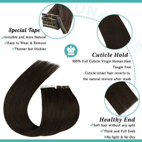 double sided virgin hair extensions
