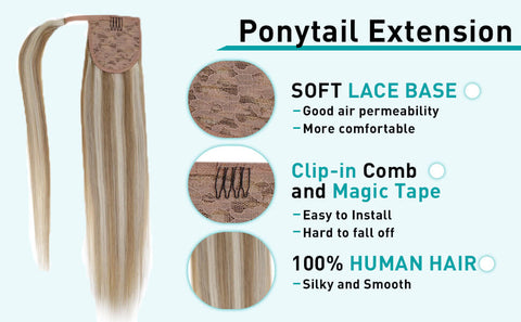 ponytail hair extensions highlights