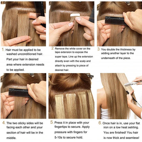 invisible virgin tape in hair
