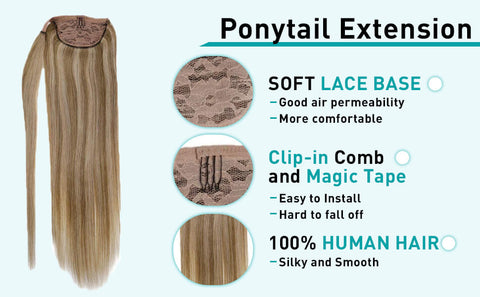 ponytail hair extensions blonde hair color