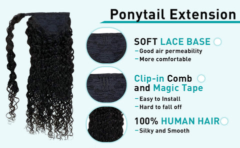 ponytail hair extensions natural wave