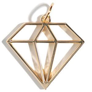 Geometric | Gem Charm - shop and save with free shipping and free gifts with purchase only at blingsting.com