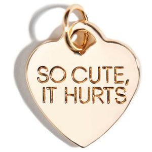 So Cute, It Hurts | Heart Charm - blingsting.com