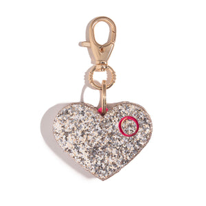 Ahh!-larm | Champagne Glitter Heart - shop and save with free shipping and free gifts with purchase at blingsting.com