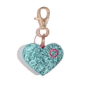 Ahh!-larm | Mint Glitter Heart - shop and save with free shipping and free gifts with purchase at blingsting.com