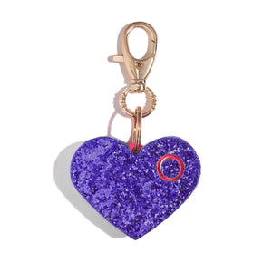 Ahh!-larm | Purple Glitter Heart - shop and save with free shipping and free gifts with purchase only at blingsting.com