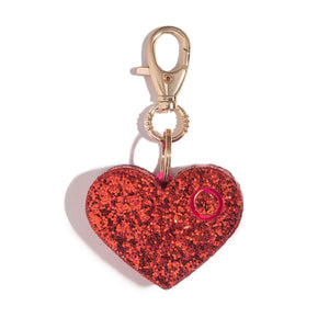 Ahh!-larm | Red Glitter Heart - shop and save with free shipping and free gifts with purchase at blingsting.com