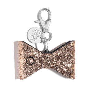 Ahh!-larm | Rose Gold Glitter Bow - shop and save with free shipping and free gifts with purchase only at blingsting.com