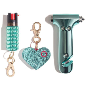 Fave Babes | Mint Auto Safety Set - shop and save with free shipping and free gifts with purchase only at blingsting.com