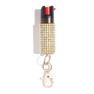Gold Coast | Rhinestone Pepper Spray - shop and save with free shipping and free gifts with purchase only at blingsting.com