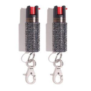 Mink Rhinestone Pepper Spray Duo - shop and save with free shipping and free gifts with purchase only at blingsting.com