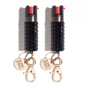 Black Cats | Pepper Spray Twin Set - shop and save with free shipping and free gifts with purchase at blingsting.com