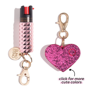 Rosé All Day Sweet Heart | Self Defense Set - shop and save with free shipping and free gifts with purchase only at blingsting.com