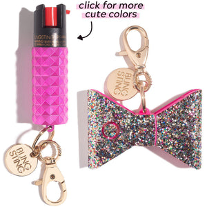 Bad to the Bow | Hot Pink Self Defense Set - shop and save with free shipping and free gifts with purchase only at blingsting.com