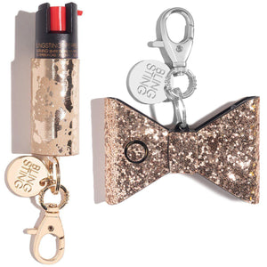 Bad to the Bow | Gold Self Defense Set - shop and save with free shipping and free gifts with purchase only at blingsting.com