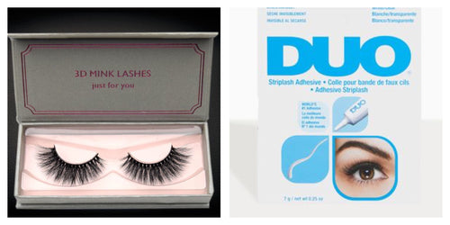 3D Mink High Volume Mink Eyelashes with DUO lash glue