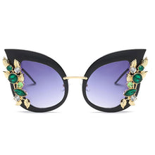 Oversized Sunglasses Diamond Crystal Cat Eye