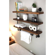 Bath Towel Holder One Shelf Metal Pipe Bath Towel Holder with Shelves