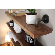 Bath Towel Holder Two Shelves Metal Pipe Bath Towel Holder with Shelves