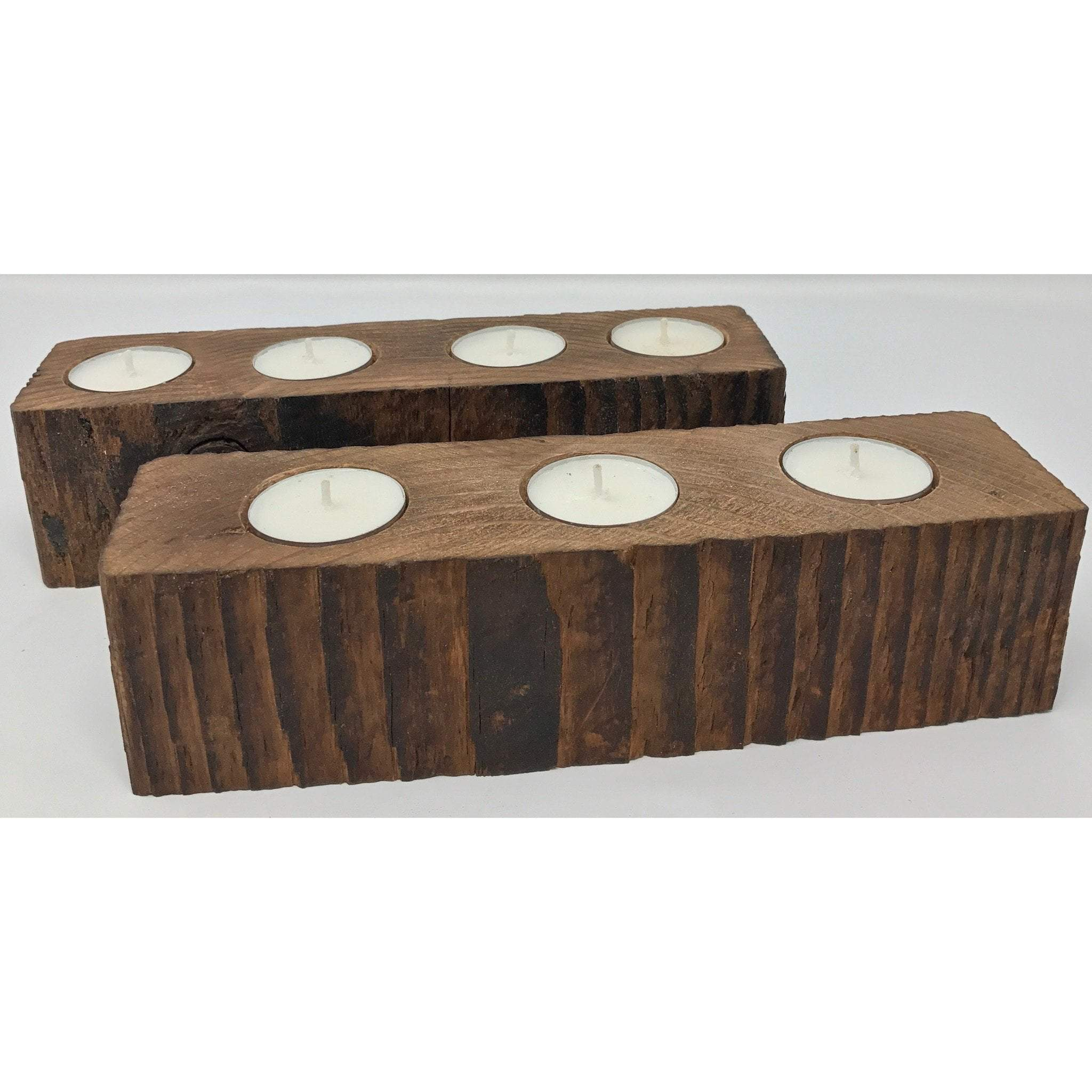 Home Decor Reclaimed Wood Candle Holders