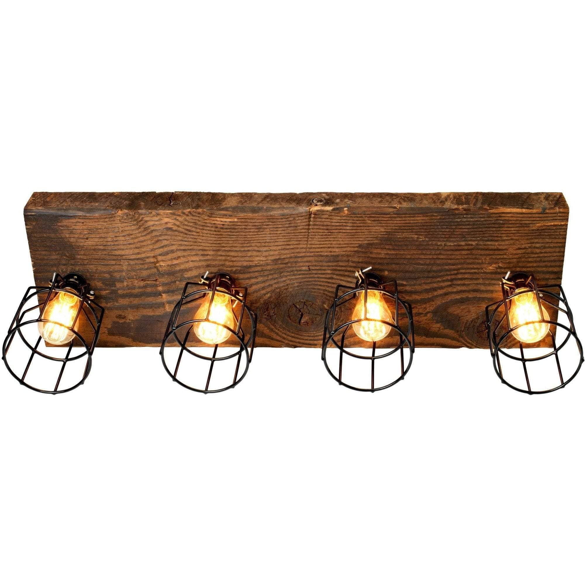 "Lighting 32"" 4 Light Reclaimed Wood Light"